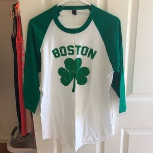 Boston St. Patrick's Day shirt, size large, NEW